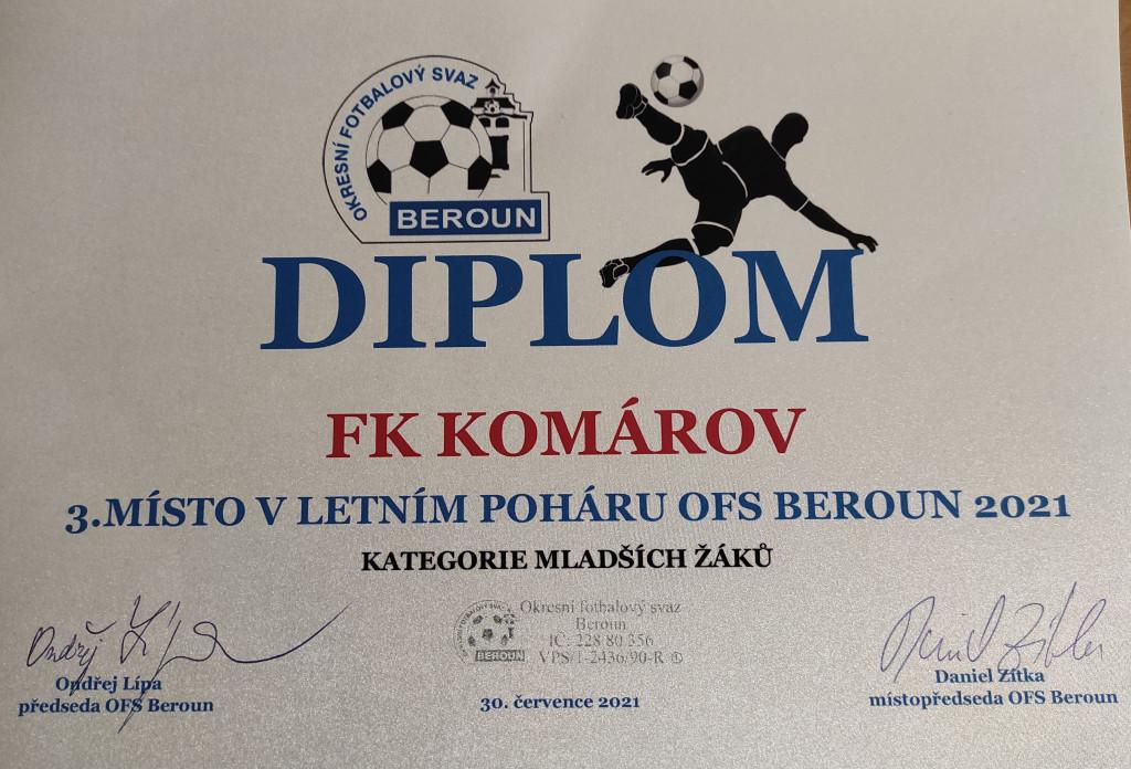 3.místo v poháru OFS Beroun 2021