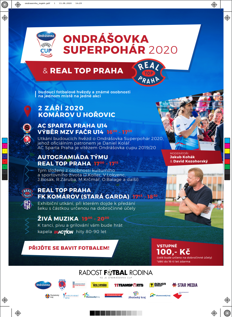Ondrášovka Superpohár 2020 a Real Top Praha